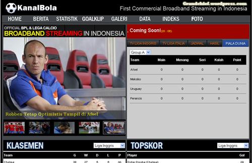 Homepage Kanalbola.com