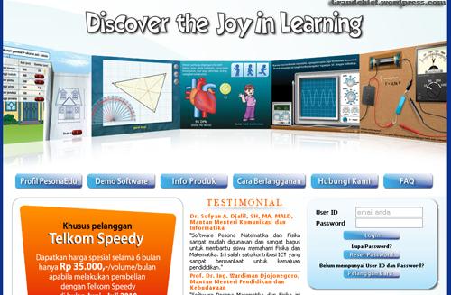 Homepage edu.telkomspeedy.com