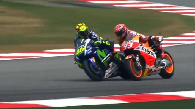 Insiden Marquez dan Rossi di Sepang
